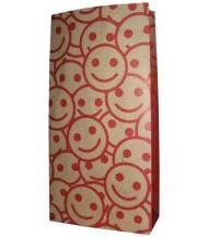 Food Bag 2 Motif Smile, Ukuran 12 x 5 x 23 cm, Bahan Kertas Kraft 125 grm, Harga Rp. 450,00